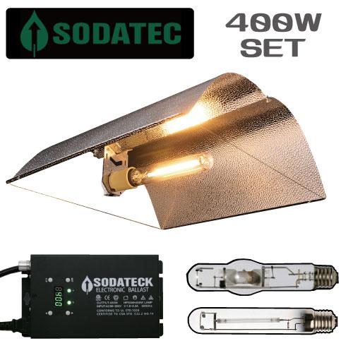植物育成ライト 400WセットMirror Wing Reflector 3段階で調光可能で24時間タイマー内臓〔送料無料〕〔安心の1年保証〕 GROW LIGHT