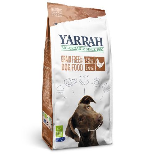 ヤラー(Yarrah)ドッグフードグレインフリー5kg穀物不使用。オーガニックチキンが主原料の贅沢なフードです!ヨーロッパユニオン / ドイツ、フランス、オランダの厳しいオーガニック基準をクリアした高品質と安心をお届け!