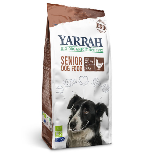 ヤラー(YARRAH)シニア5kg7歳を超えて加齢を感じたら視野に入れたいシニア向けフード オーガニックチキンをメインにハーブが配合されたシニア犬に優しいフードです。ヨーロッパ5ヶ国でオーガニック認証取得の高品質と安心をお届け!【送料無料】【あす楽対応_関東】