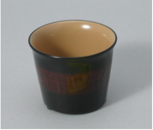 「天然抗菌素材」による安全安心食器作家と職人の技、重ね重ねて「約130工程」 ご注文後製造します(約1ヶ月) 輪島塗・モダンカップ(小サイズ 69×H58)