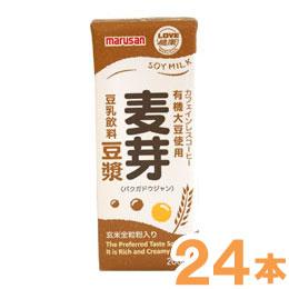 有機大豆使用 麦芽豆ジャン(200ml)【24本セット】【マルサン】