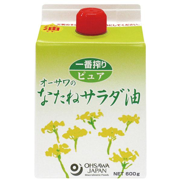 オーサワのなたねサラダ油(600g)紙パック【オーサワジャパン】