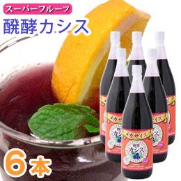 【送料無料】醗酵カシス メガサイズ(1800ml)【6本セット】【ジャフマック】
