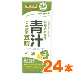 ドウジャン 豆乳 有機大豆使用 セール商品 青汁豆ジャン 200ml 24本セット マルサン 選択