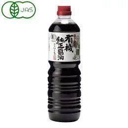 丸島醤油 有機純正醤油 濃口 1L ファクトリーアウトレット ペットボトル入 [並行輸入品] マルシマ