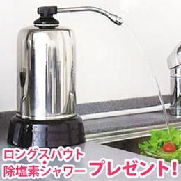 【送料無料】【除塩素シャワーとロングスパウト(25cm)をプレゼント!】浄水器・ハーレーII(正規輸入品)【RHS】【いつでもポイント10倍】