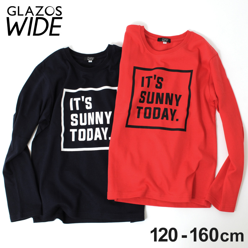Box logo print thick long sleeves T-shirt children's clothes boy casual  American casual kids Jr  tops Ron T 140cm 150cm 160cm グラソス 2018 new