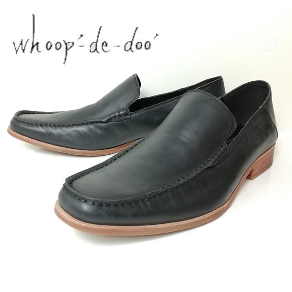 whoop-de-doo フープディドゥ メンズ 紳士靴 ブラック スリッポン 304764-100 【メンズ】