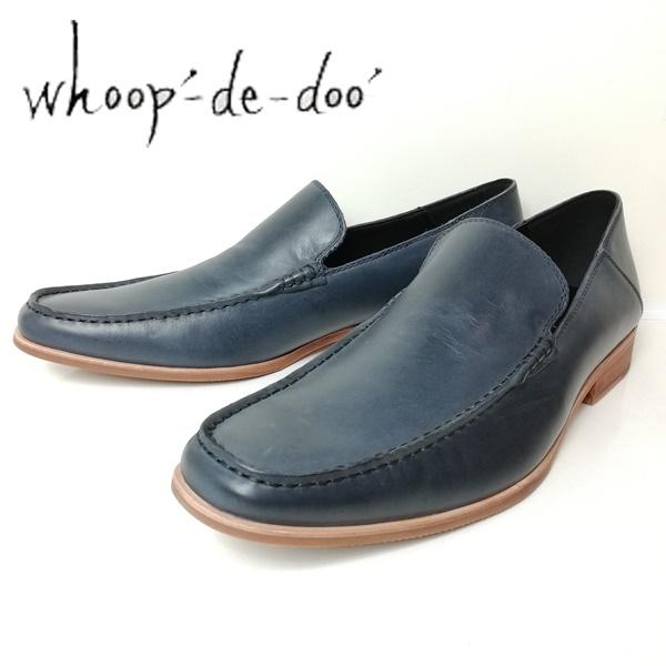 2020A/W新作送料無料 whoop-de-doo フープディドゥ メンズ 送料無料 一部地域を除く スリッポン 紳士靴 ネイビー ブラック 304764-610