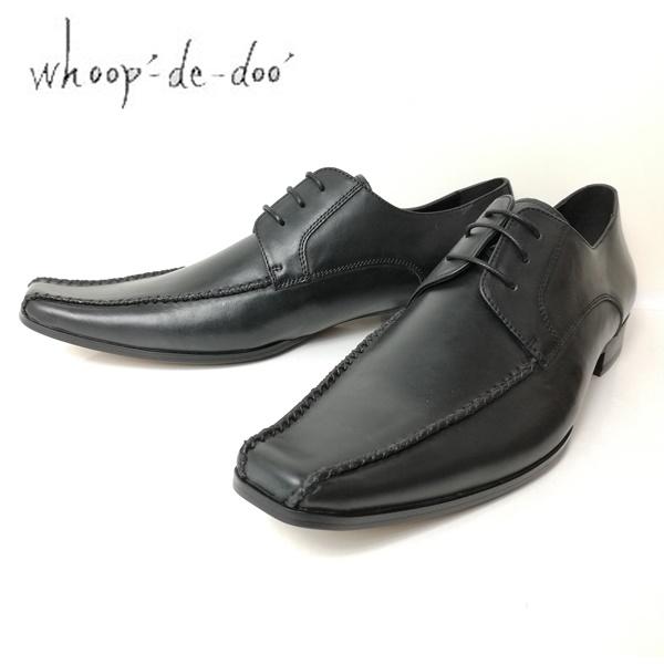 whoop-de-doo フープディドゥ メンズ 紳士靴 304834-100 スワールモカ クロスステッチシューズ ブラック 【メンズ】