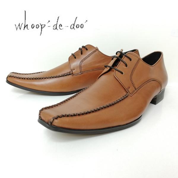 whoop-de-doo フープディドゥ メンズ 紳士靴 304834-200 スワールモカ クロスステッチシューズ ブラウン 【メンズ】