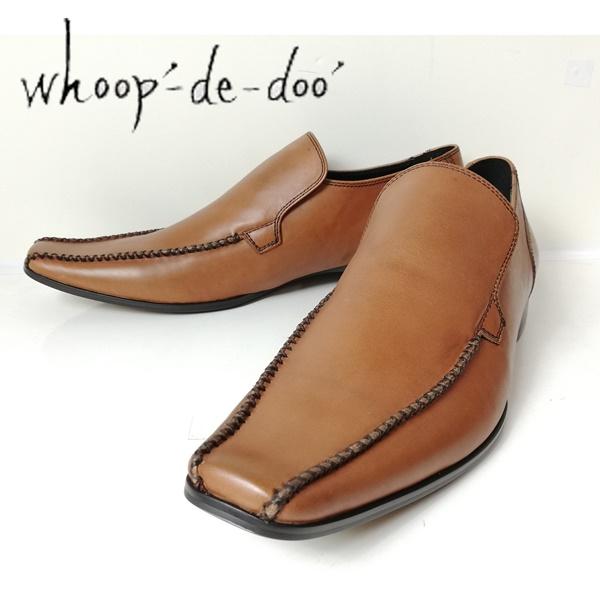 whoop-de-doo フープディドゥ メンズ 紳士靴 ブラウン 304844-200スワローモカクロスステップヴァンプ 【メンズ】