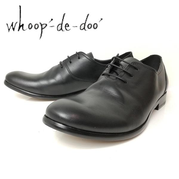 whoop-de-doo フープディドゥ メンズ 紳士靴 306743-100 プレーントゥ シャーリングシューズ 丸 ブラック 【メンズ】
