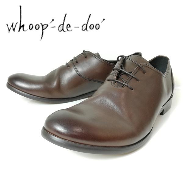 whoop-de-doo フープディドゥ メンズ 紳士靴 306743-220 プレーントゥ シャーリングシューズ 丸 ブラウン 【メンズ】