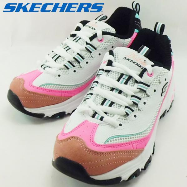 スケッチャーズ SKECHERS 13146 WPKB D LITES-SECOND CHANCE White/Pink/Blue スニーカー 【レディース】 【レディース】