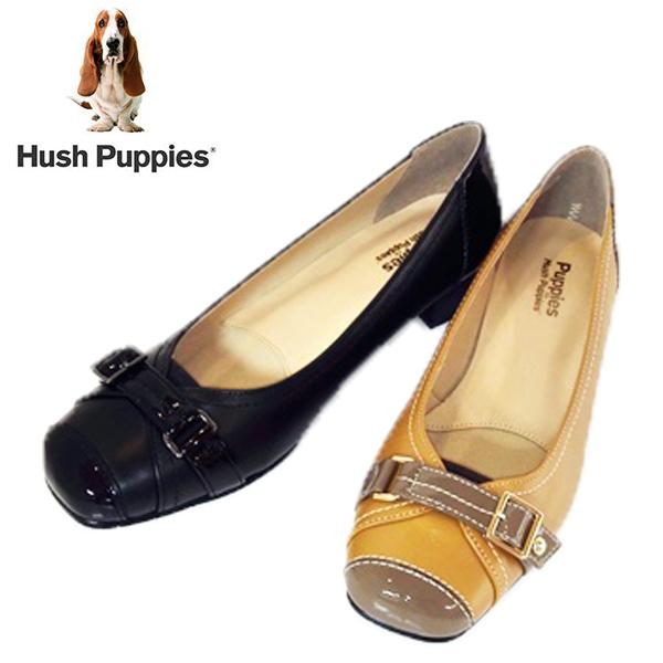 Hush puppies ハッシュパピー LC-8206-100-200 本革 日本製 ローヒールパンプス 【レディース】