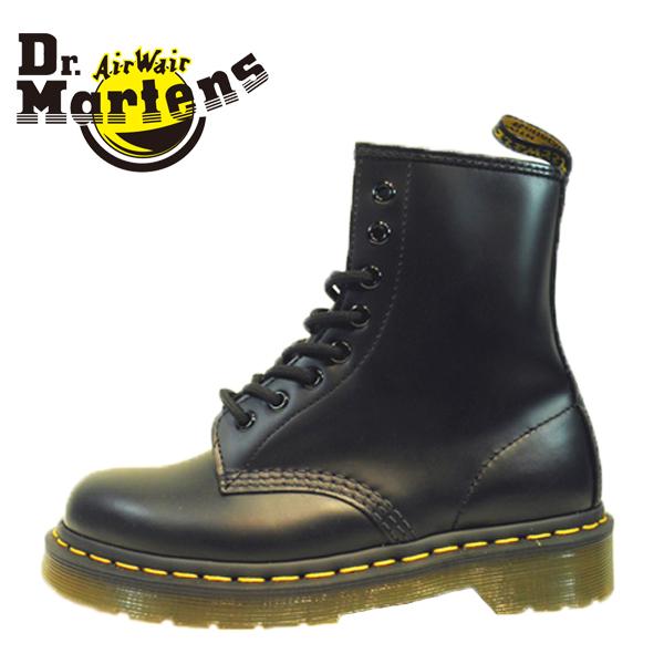 Dr.Martens ドクターマーチン 072004-100 (10072004) CORE 1460 8ホール SMOOTH 本革 スムース レザー ブーツ ショート ミドル イエローステッチ 【レディース】