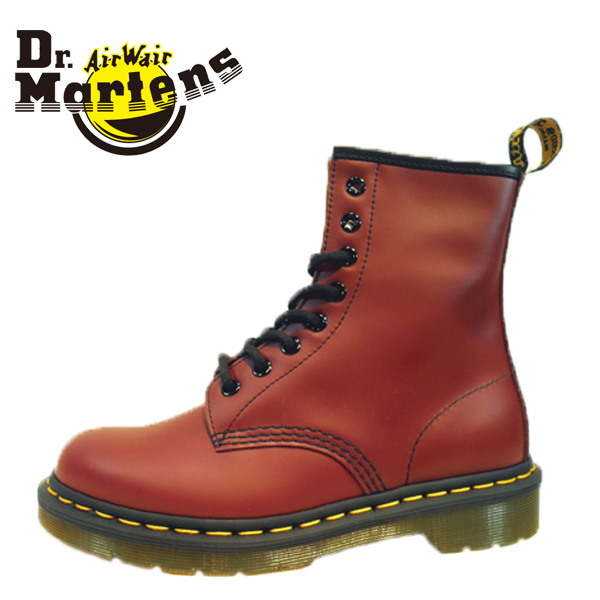 Dr.Martens ドクターマーチン 072600-440 (10072600) CORE 1460 8ホール SMOOTH 本革 スムース レザー ブーツ ショート ミドル イエローステッチ 【レディース】