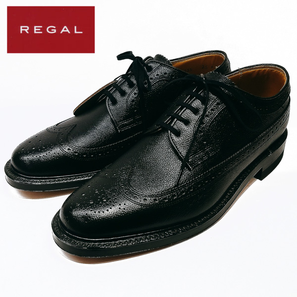リーガル REGAL ビジネスシューズ 2235 ウィングチップ 牛革 2E ブラック 【メンズ】