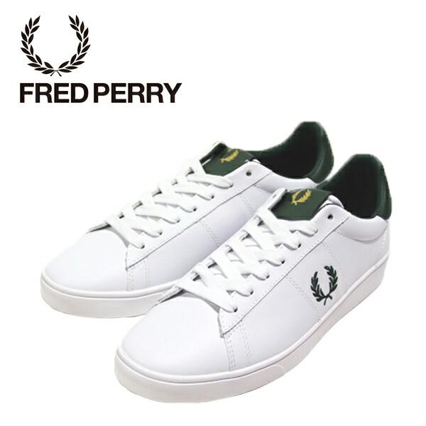 FRED PERRY フレッドペリー B8250-906 WHITE SPENCER LEATHER スペンサーレザー 【メンズ】
