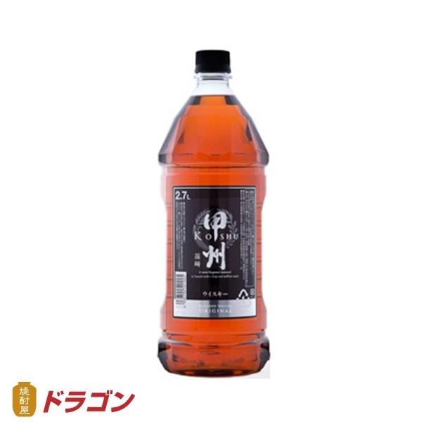 甲州 韮崎 (にらさき) オリジナル 37度 2.7L×6本1ケース ウイスキー 富永貿易 2700ml※1ケースで1個分の送料です