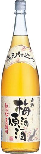 白鶴 梅酒原酒 19~20% 1800ml×6本 P箱発送 1.8L瓶