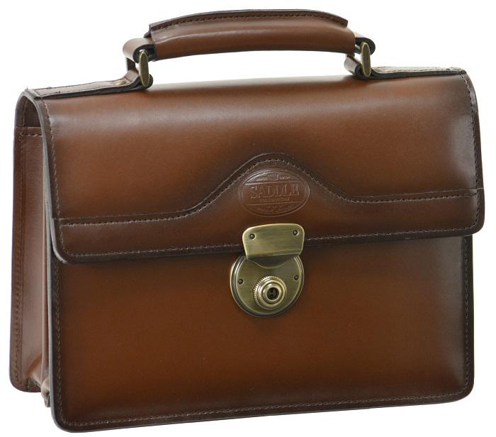 セカンドバッグ ダレスバッグ メンズ 日本製 牛革 豊岡製 SADDLE 送料無料かぶせ カギ ロック 持ち手 ビジネス フォーマル 紳士 鞄 ハンドル バッグ レザー