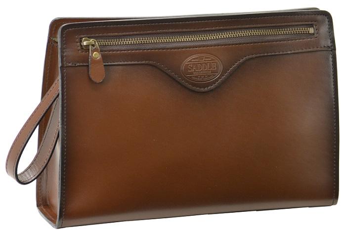 セカンドバッグ ダレスバッグ メンズ 日本製 本革 牛革 豊岡製 SADDLE 送料無料 29cm かぶせ カギ ロック 持ち手 ビジネス フォーマル 紳士 鞄 ハンドル バッグ レザー