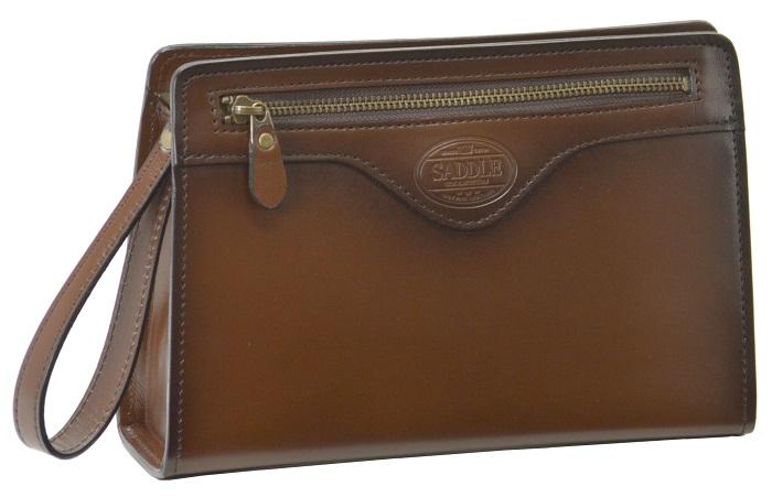 セカンドバッグ ダレスバッグ メンズ 日本製 本革 牛革 豊岡製 SADDLE 送料無料 25cm かぶせ カギ ロック 持ち手 ビジネス フォーマル 紳士 鞄 ハンドル バッグ レザー