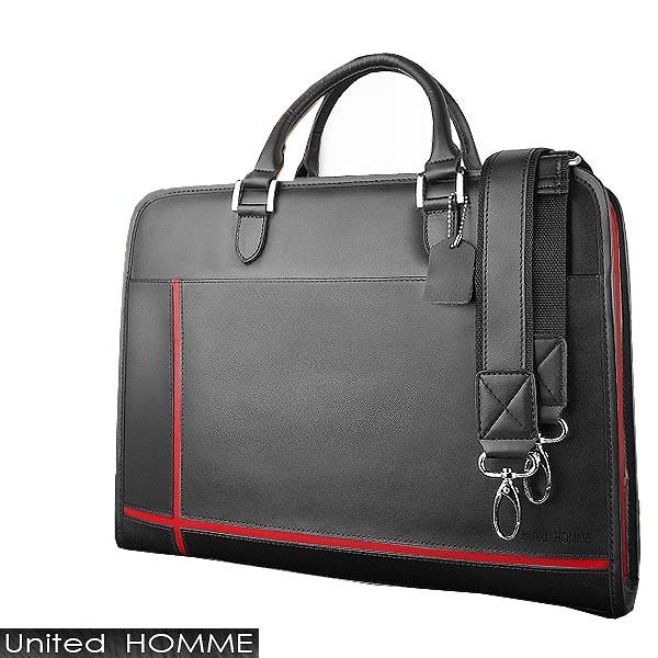 ビジネスバッグ 送料無料 本革 レッドスタイリッシュ&実用性を追求した大人鞄A4サイズもスッポリの大型ポケット収納付ブリーフケース リクルートバッグ