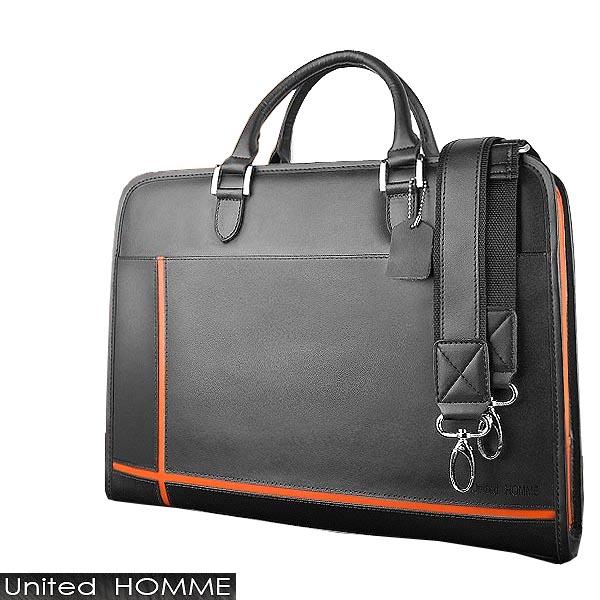 ビジネスバッグ 送料無料 本革 オレンジスタイリッシュ&実用性を追求した大人鞄A4サイズもスッポリの大型ポケット収納付ブリーフケース リクルートバッグ