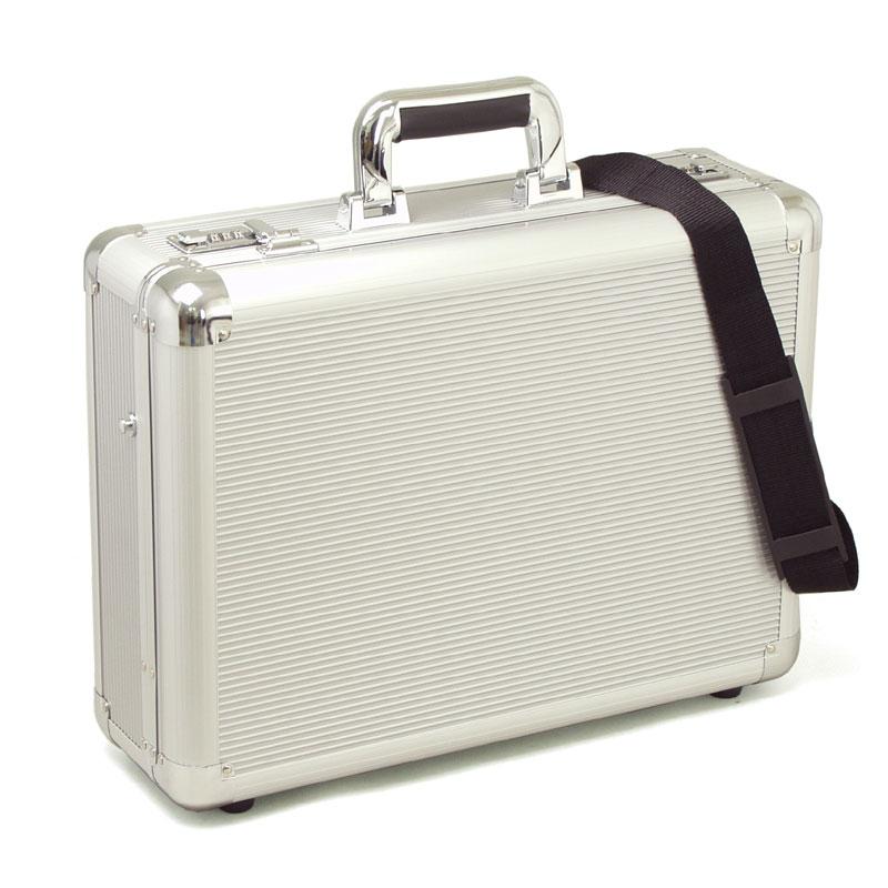 【送料無料】 アタッシュケース アルミ A3F ブリーフケース ビジネスバッグ 軽量・堅牢なアルミ製アタッシュケース ショルダーベルト付き