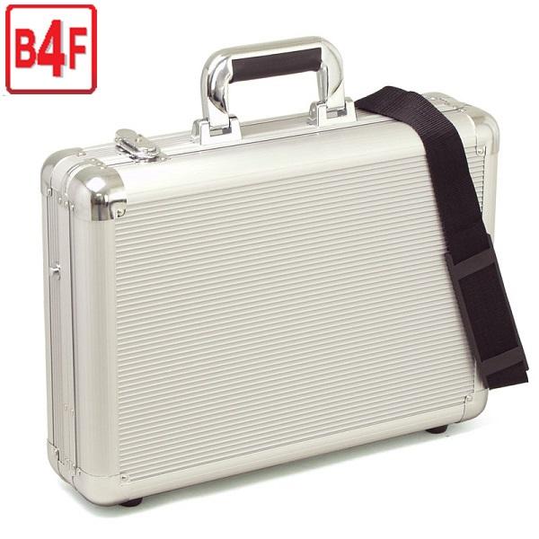 【送料無料】 アタッシュケース アルミB4F 43cm ブリーフケース ビジネスバッグ 軽量・堅牢なアルミ製アタッシュケース ショルダーベルト付き