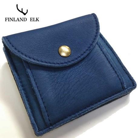 二つ折り財布 メンズ 送料無料【tachiya】鹿革使用フィンランドエルク二つ折りウォレット