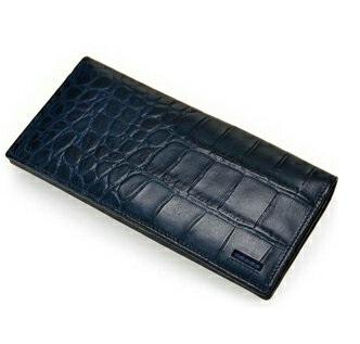 長財布 メンズ CROSS クロス COCO 牛革 クロコ型押し 送料無料ブラック ブラウン ネイビーブルー