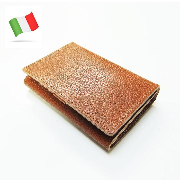 イタリアトスカーナの伝統的な植物なめしの革を使い丁寧に生産 カードケース 名刺入れ VALDARNO 販売期間 限定のお得なタイムセール イタリーレザー ブラウン お中元 ダークブラウン ブラック ラウンドジップ
