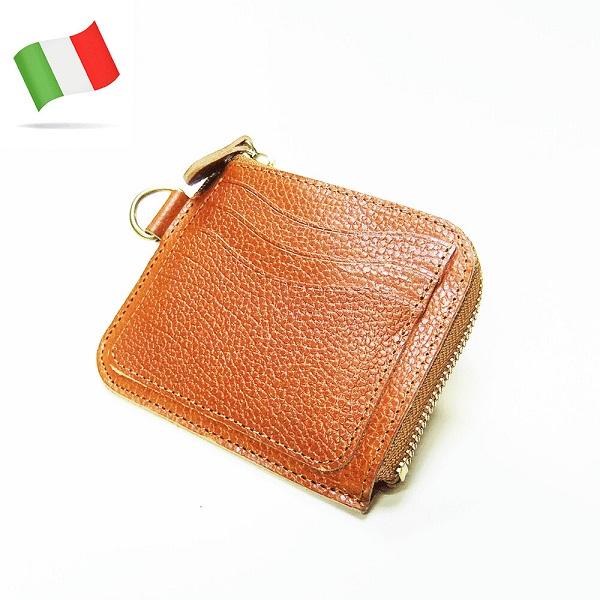 イタリアトスカーナの伝統的な植物なめしの革を使い丁寧に生産 大放出セール 小さい財布 メンズ VALDARNO イタリーレザー ミニウォレット ブラウン ブラック Lジップ おしゃれ ダークブラウン