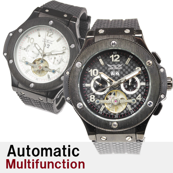メンズ腕時計 送料無料 全針稼動の本格仕様マルチファンクション自動巻き腕時計