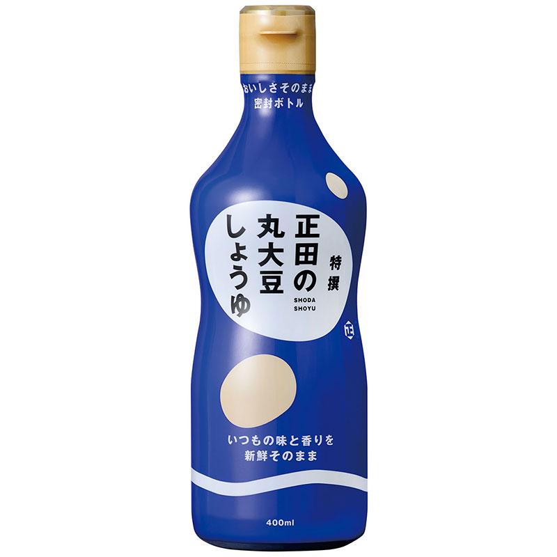 公式ストア おいしさを保つ密封ボトル入り 正田醤油 おしゃれ 密封ボトル 正田の丸大豆しょうゆ特撰400ml