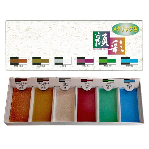 15,500 ink lucky Temple face Sai metallic 6 color set RP