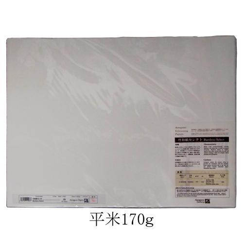 OA用紙 アワガミ エディショニングペーパー 竹和紙セレクト 平米170g 幅52cm×長さ43cm (四方耳付) 25枚入り 2135242 (609403) 阿波紙 エディショニング 和紙