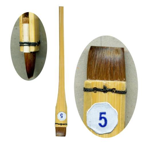 最高級の馬毛染色用の塗り込み刷毛 染色用品 中里製 差指刷毛 SSH 5号 【メール便対応可】 (620236) 刷毛 はけ