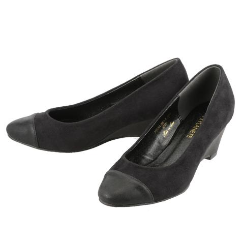 [El planet] ELLE PLANETE ladies elegance pumps PTL212 ladies | Women's pumps | Popular brands | Black Suede (small size) (large size)