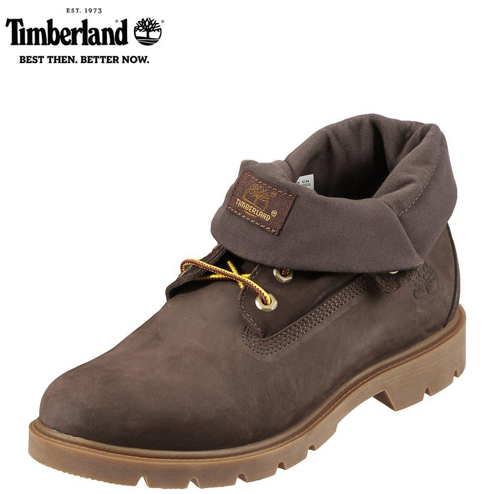 ティンバーランド Timberland ブーツ TIMB A1L5U メンズ 靴 シューズ 3E相当 ショートブーツ 本革 撥水 レースアップ 幅広 ロールトップ カジュアル 大きいサイズ対応 28.0cm ダークブラウン