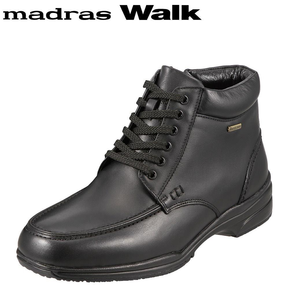 [マラソン期間中ポイント5倍]マドラスウォーク madras Walk ブーツ SPMW5478 メンズ 靴 シューズ 4E相当 ショートブーツ 防水 幅広 防滑 歩きやすい 仕事 通勤 ビジネス 小さいサイズ対応 24.5cm ブラック