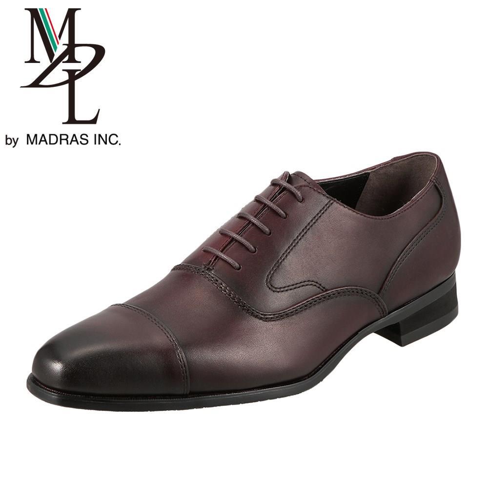 [マラソン中ポイント5倍]エムディエル MDL ビジネスシューズ DS4061 メンズ靴 靴 シューズ ビジネスシューズ 本革 内羽根 ストレートチップ 軽量 バーガンディー