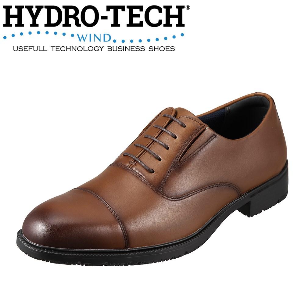 ハイドロテック HYDRO TECH ビジネスシューズ HD1203 メンズ靴 靴 シューズ 3E相当 ビジネスシューズ 防水 軽量 内羽根式 ストレートチップ 幅広 消臭 通気性 大きいサイズ対応 28.0cm ブラウン