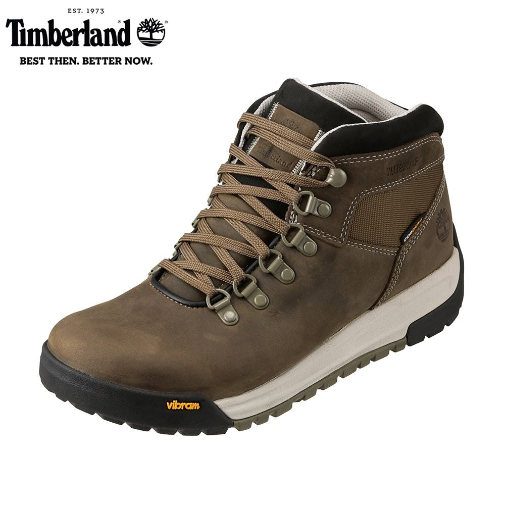 ティンバーランド Timberland ワーク TIMB A1RKS メンズ靴 靴 シューズ 3E相当 アウトドアブーツ ショートブーツ 防水 GT Scramble ハイカット ビブラムソール 人気 ブランド アメカジ 大きいサイズ対応 28.0cm オリーブ