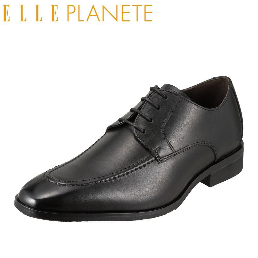 エル プラネット ELLE PLANETE ビジネスシューズ PT2018 メンズ靴 靴 シューズ 外羽根 Uチップ 本革 仕事 ビジネス 通勤 ロングノーズ ブラック