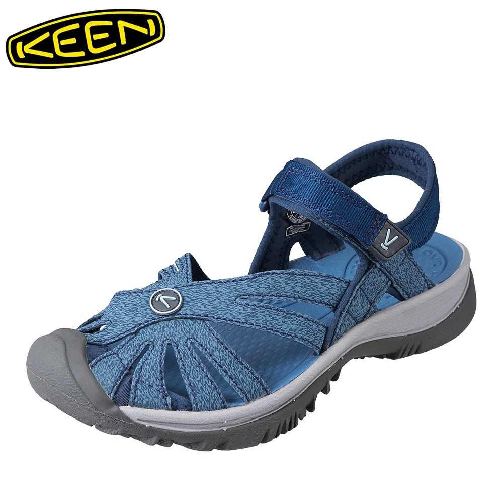 [マラソン期間中ポイント5倍]キーン KEEN サンダル 1018501 レディース靴 靴 シューズ 2E相当 レディース サンダル 軽量設計 ROSE SANDAL 人気ブランド ブルー